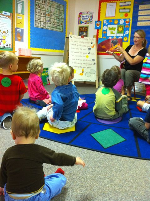 Co-op preschool classroom in Fairhaven