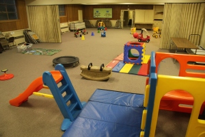 Indoor playspace at Children's Co-Op Preschool in Fairhaven, Wa