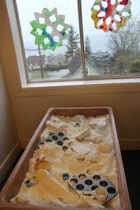 Preschool and pre-k sensory table at Children's Co-Op Preschool in Bellingham